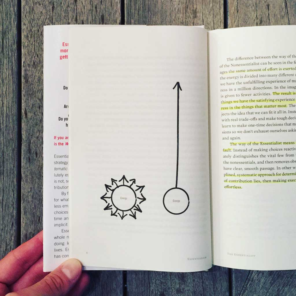 Sloww Essentialism Book Energy Focus