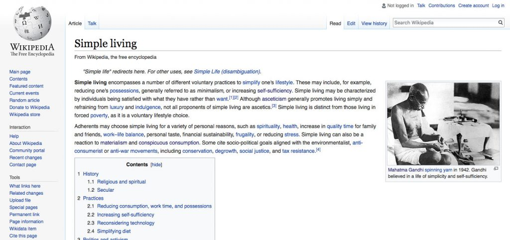 Sloww Gandhi Simple Living Wikipedia