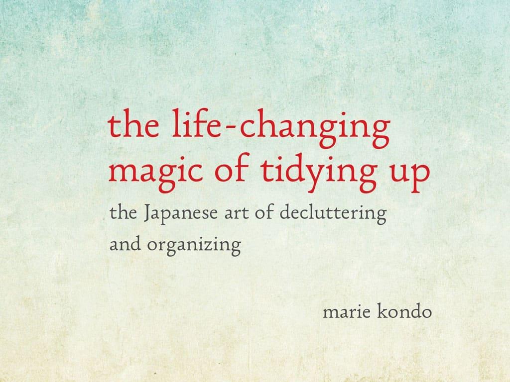 Sloww Magic Tidying Marie Kondo