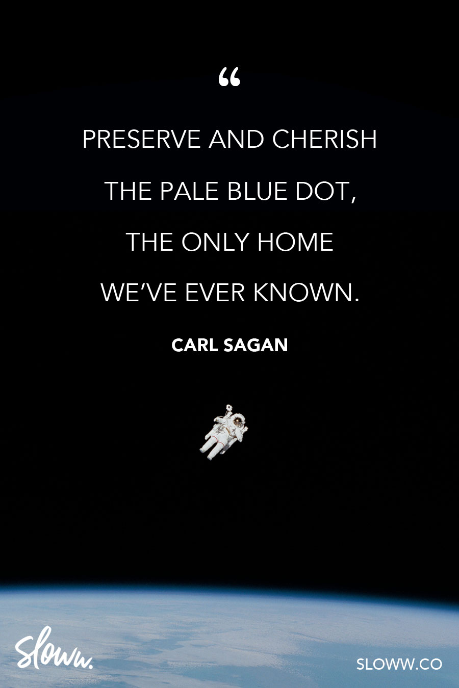 Sloww Carl Sagan Pale Blue Dot