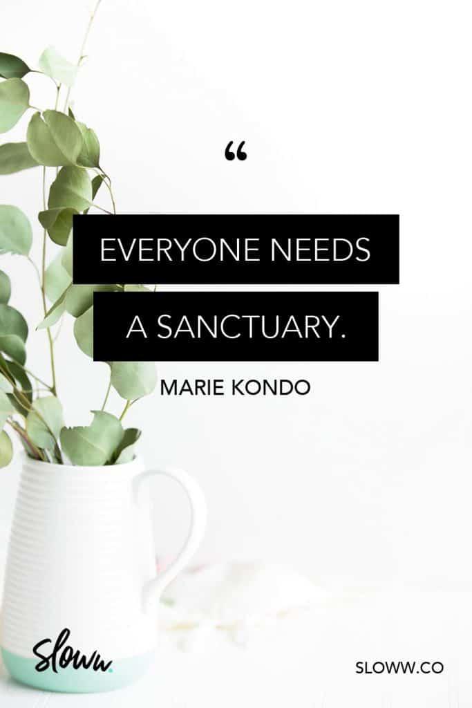 Sloww Marie Kondo Quote