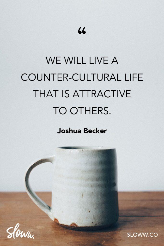 Sloww Simplify Joshua Becker