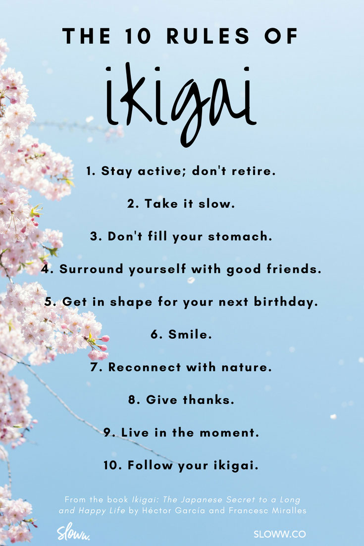 Sloww 10 Rules of Ikigai