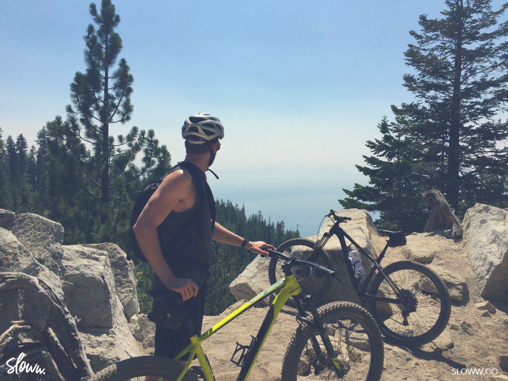 Sloww Slow Travel Lake Tahoe Flume Trail Bike