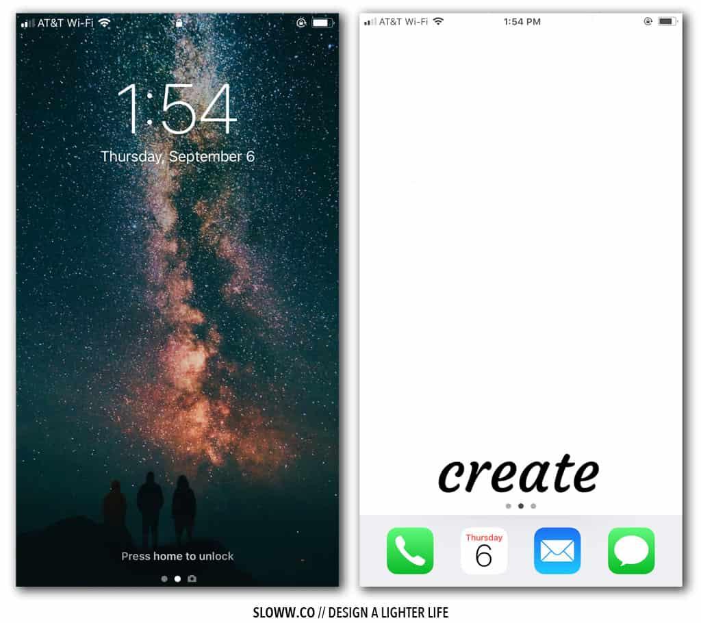 Sloww Digital Declutter Phone Screens