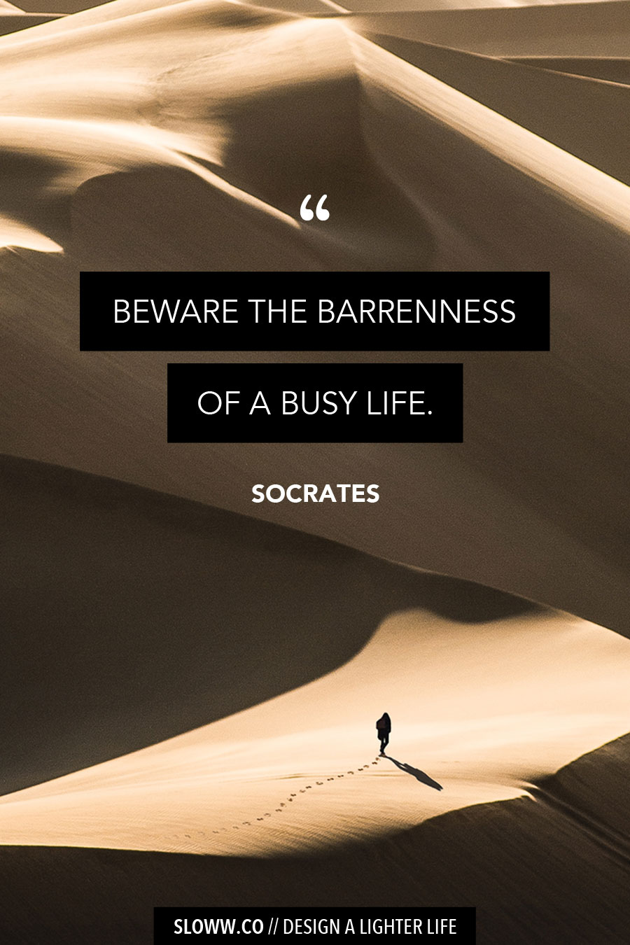 Sloww Busy Socrates Quote