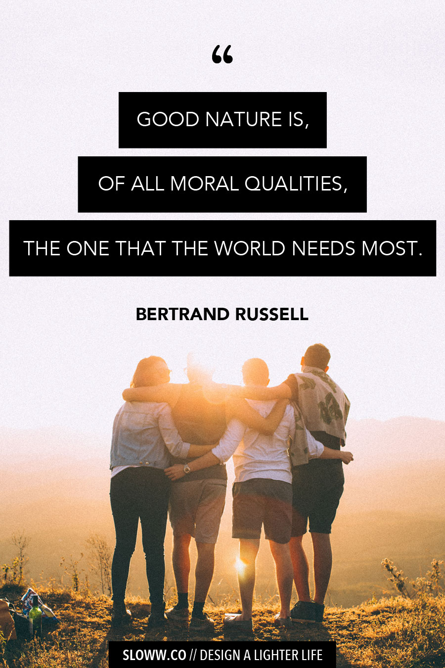 Sloww Bertrand Russell Quote