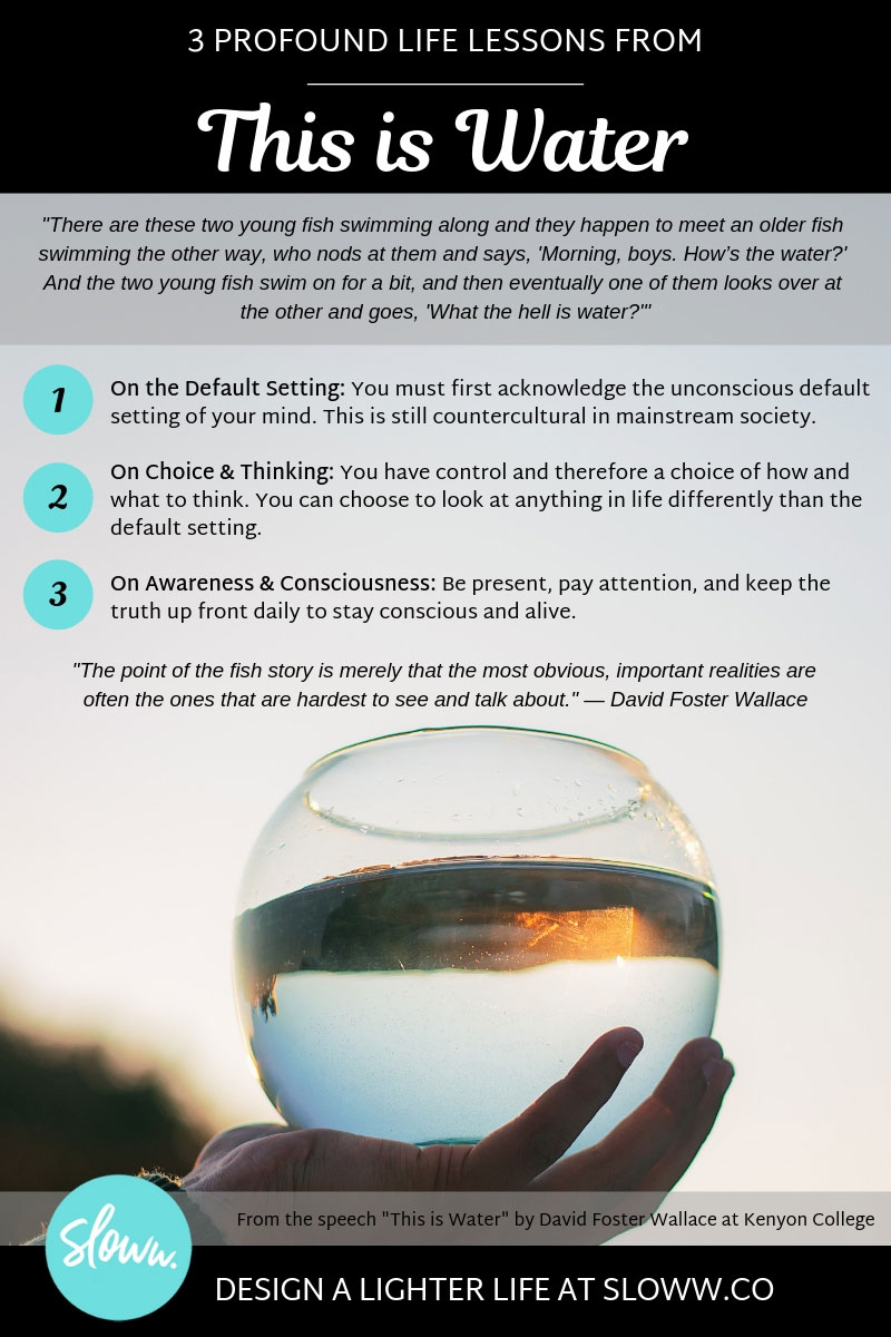 Sloww This is Water David Foster Wallace Infographic