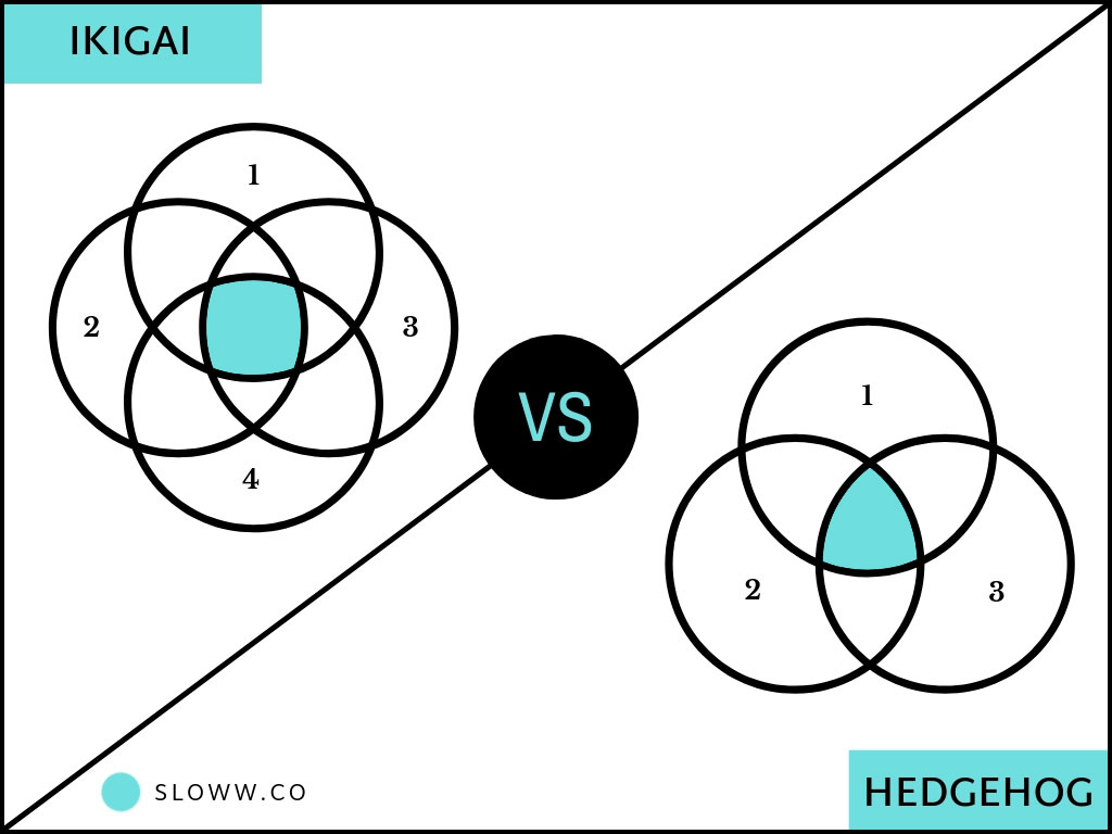 Sloww Ikigai vs Jim Collins Hedgehog