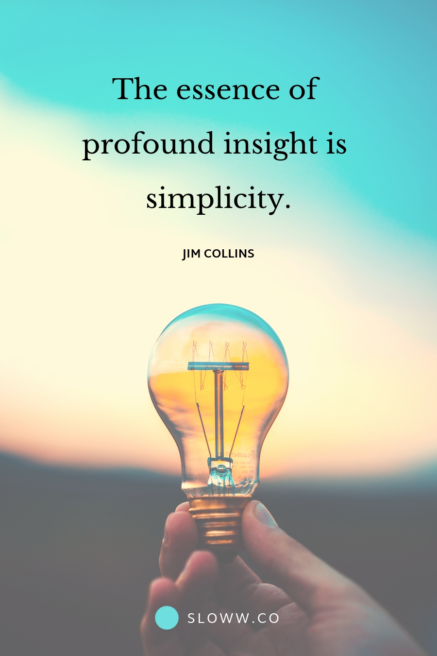 Sloww Jim Collins Simplicity Quote
