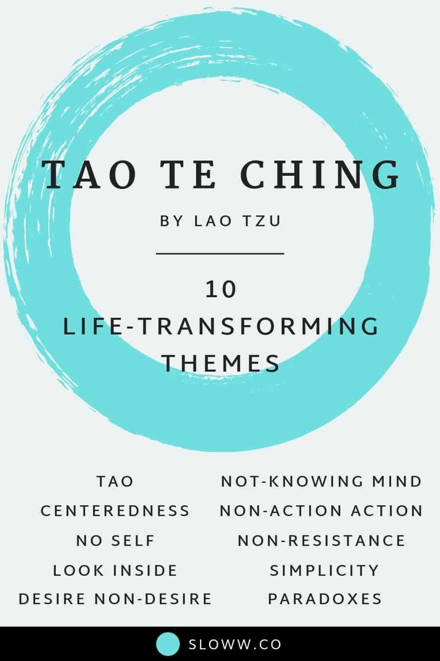 Sloww Tao Te Ching Lao Tzu Themes Infographic
