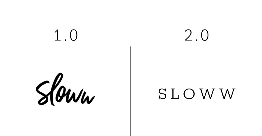 Sloww 2.0 Logo Evolution Type
