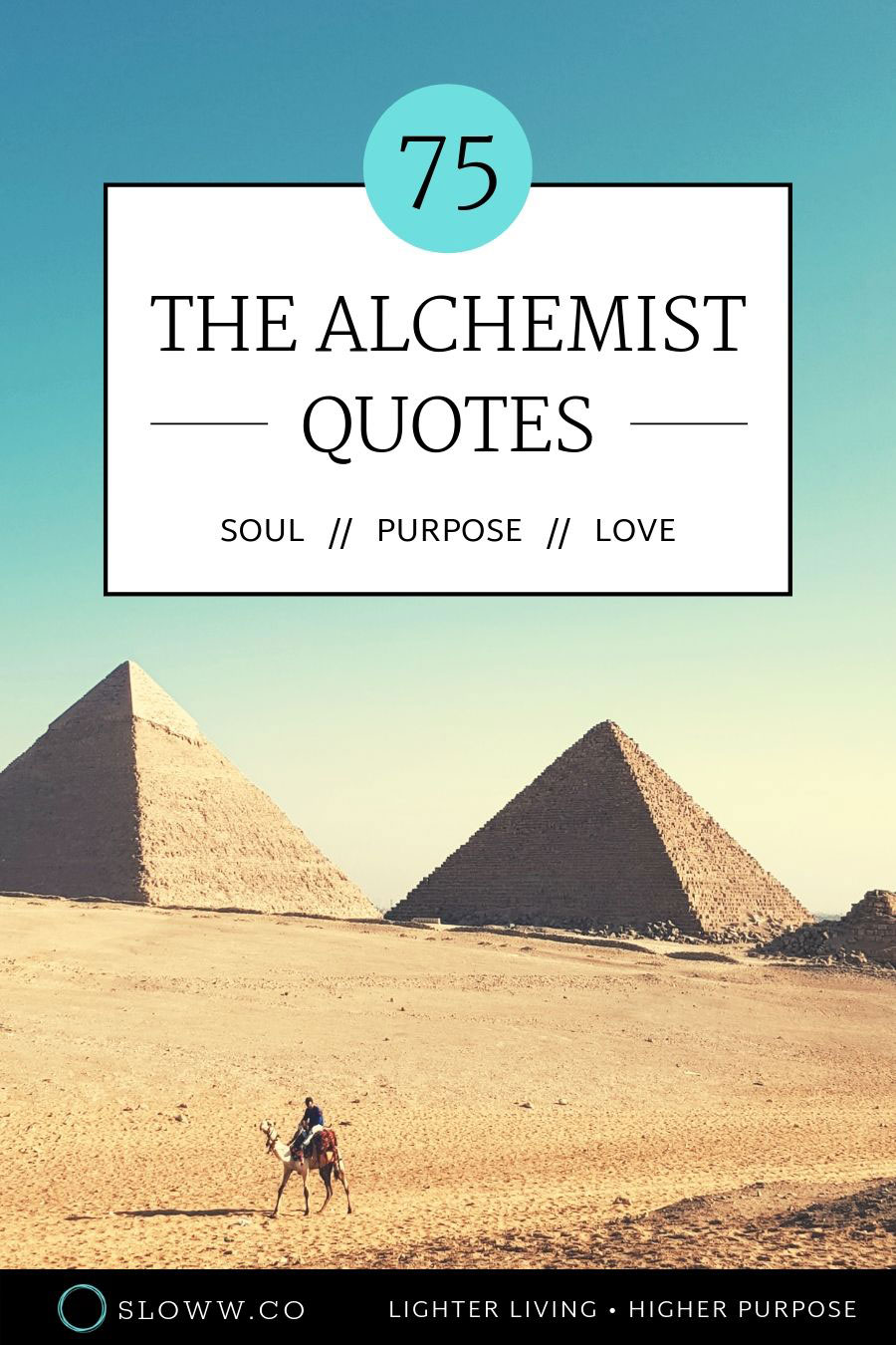 Sloww Alchemist Book Quotes
