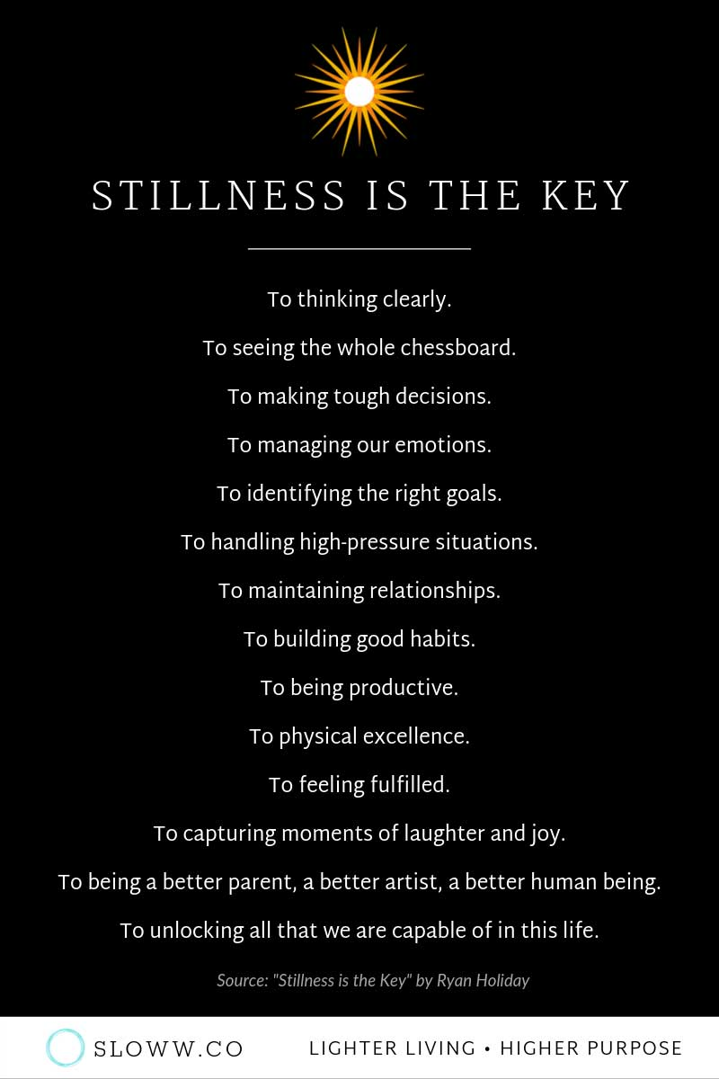 Sloww Stillness is the Key Infographic