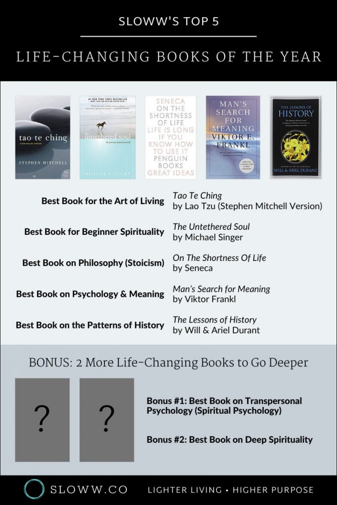 Sloww Top Books 2019 Infographic