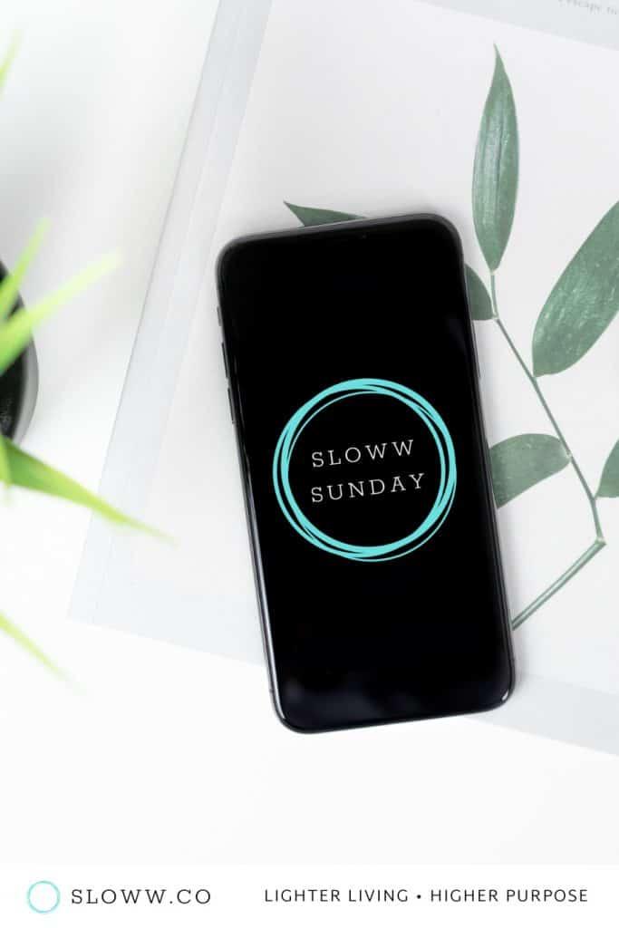 Sloww Sunday Newsletter Launch iPhone