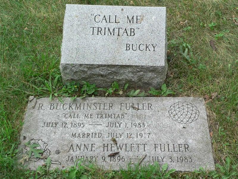 Buckminster Fuller Tombstone Call Me Trimtab