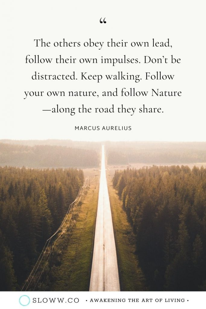 Sloww Marcus Aurelius Quote Follow Nature
