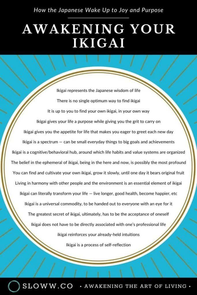 Sloww Awakening Your Ikigai Ken Mogi Infographic