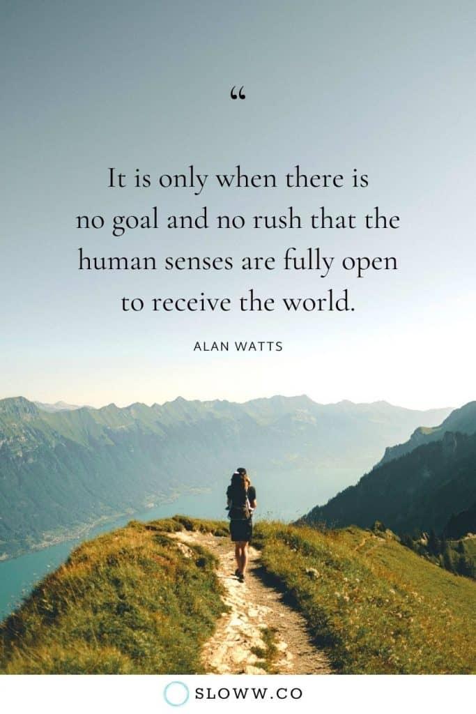 Sloww No Rush Alan Watts Quote