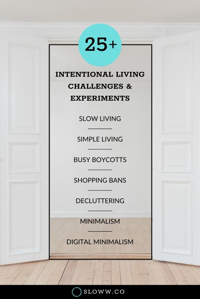 Sloww Intentional Living Challenges
