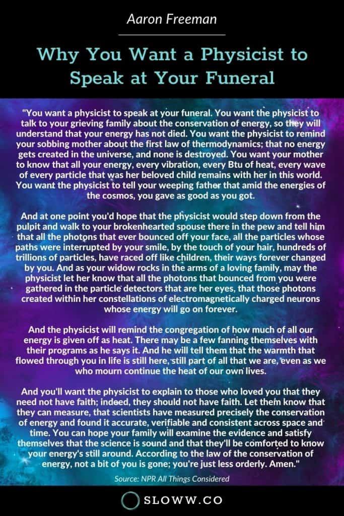 Physicist Funeral Aaron Freeman Infographic